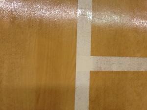 Sports hall floor