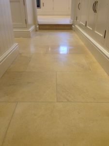 Cotswold limestone after cleaning & natural polishing