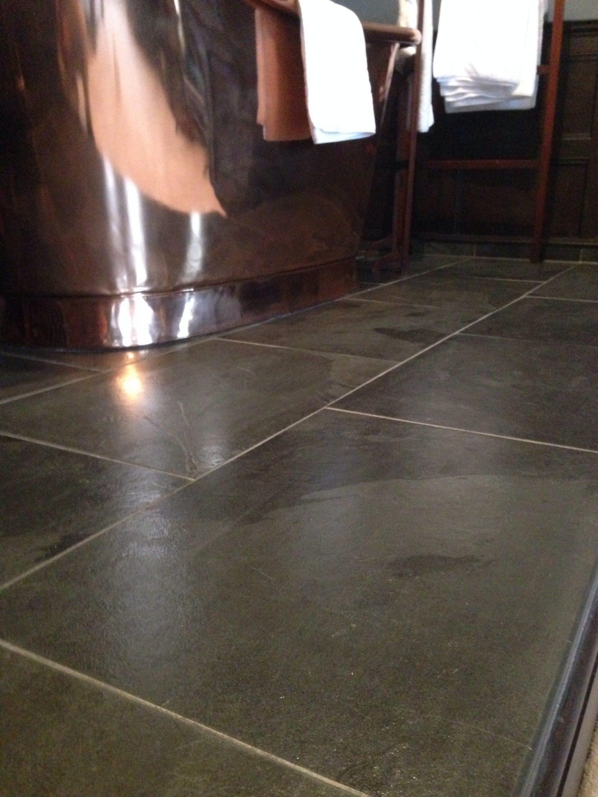 Sealed Slate floor tiles