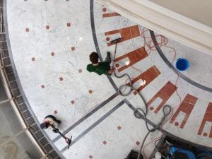 Regular maintenance on commercial flooring keeps it looking good