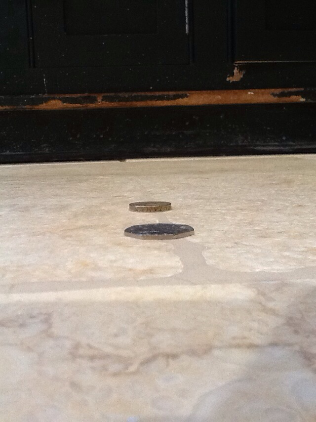 After grinding a natural stone floor