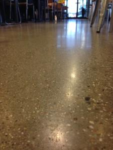 Professionally polished concrete floor