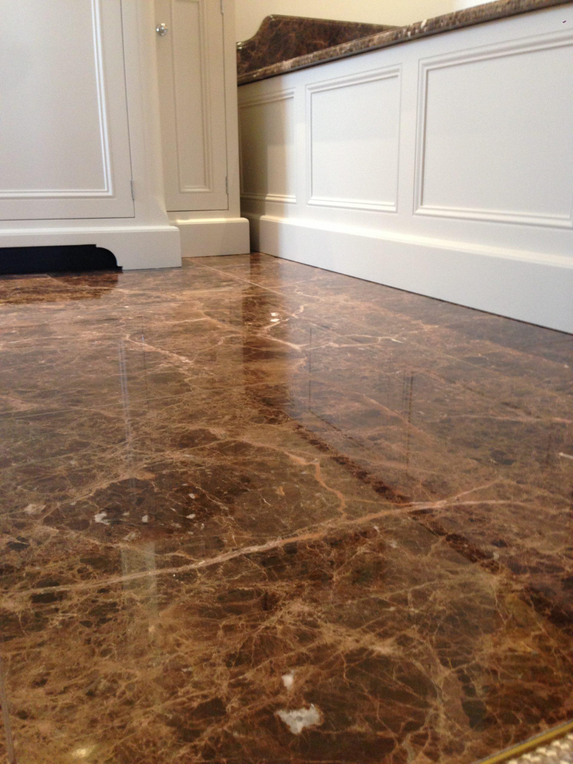 Emperador marble floor restoration