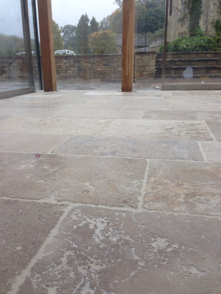 limestone fully sealed, but looking a little dry