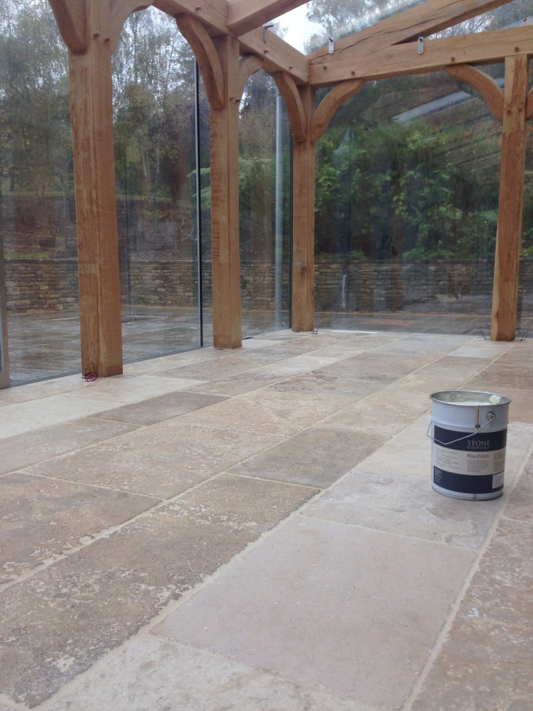 treated tiles closest to the glazing