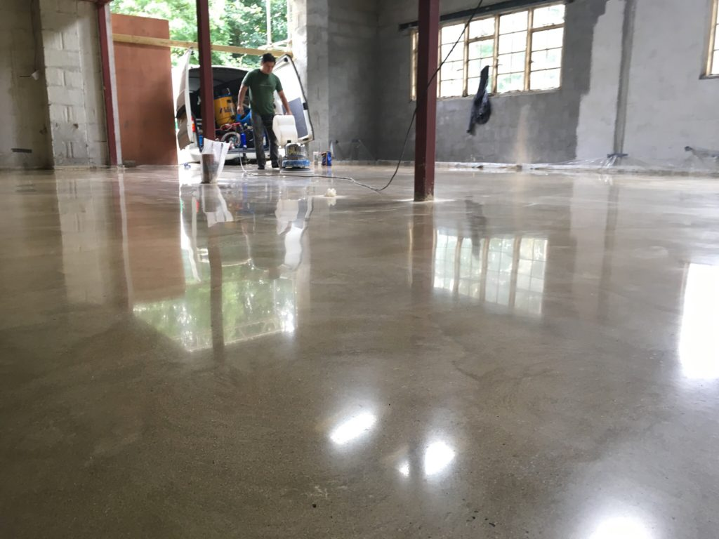 After the concrete polishing process is complete