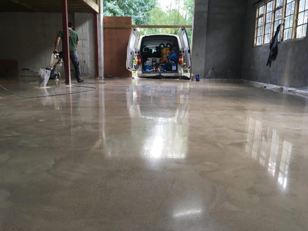 The beauty of a shiny polished concrete floor