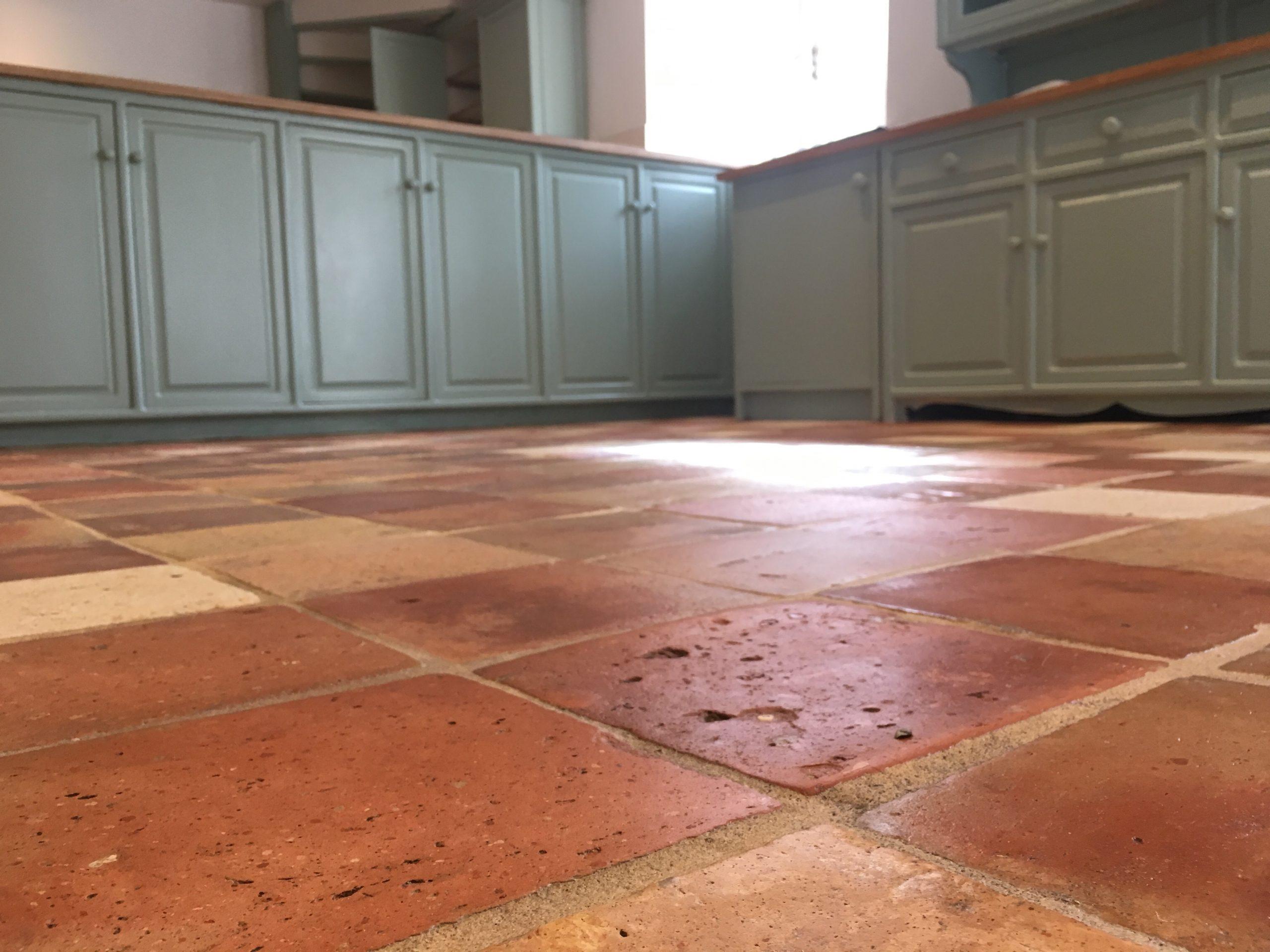 Professionally finished terracotta flooring