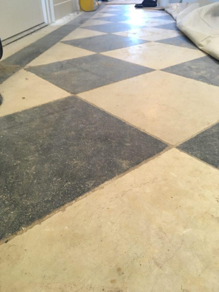 Granite and limestone floor