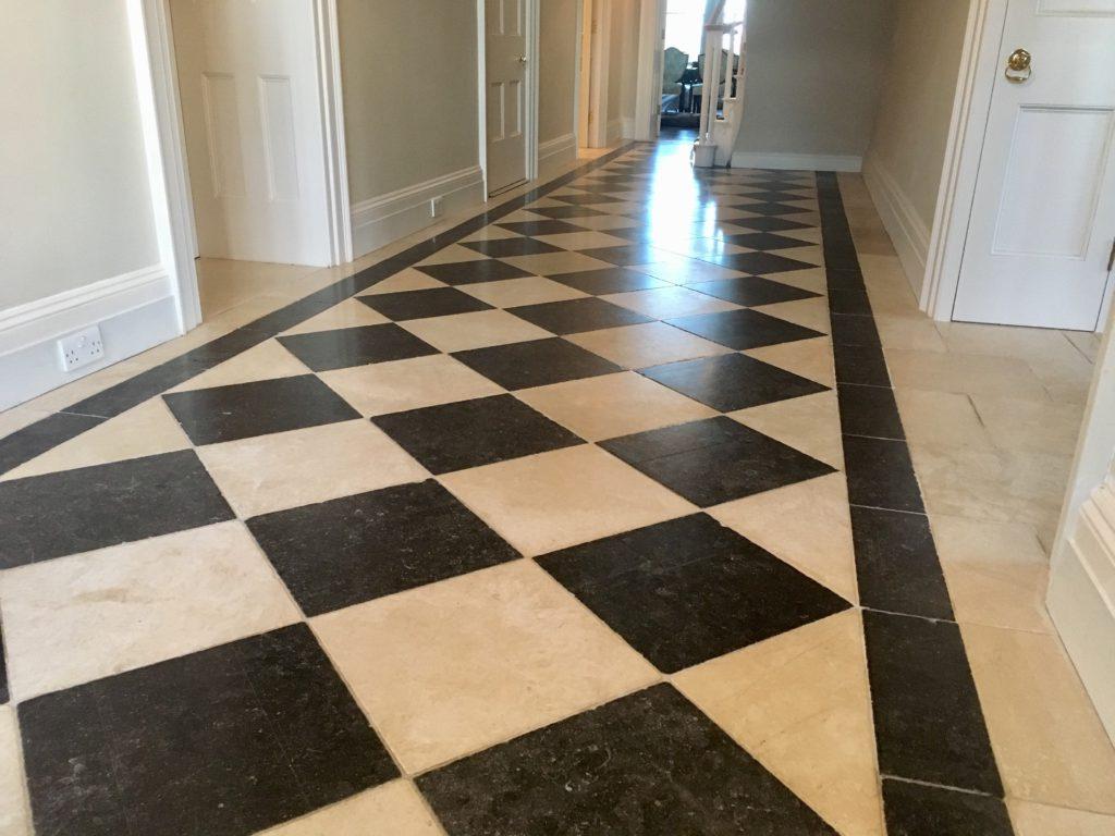 Granite & Limestone floor after polish