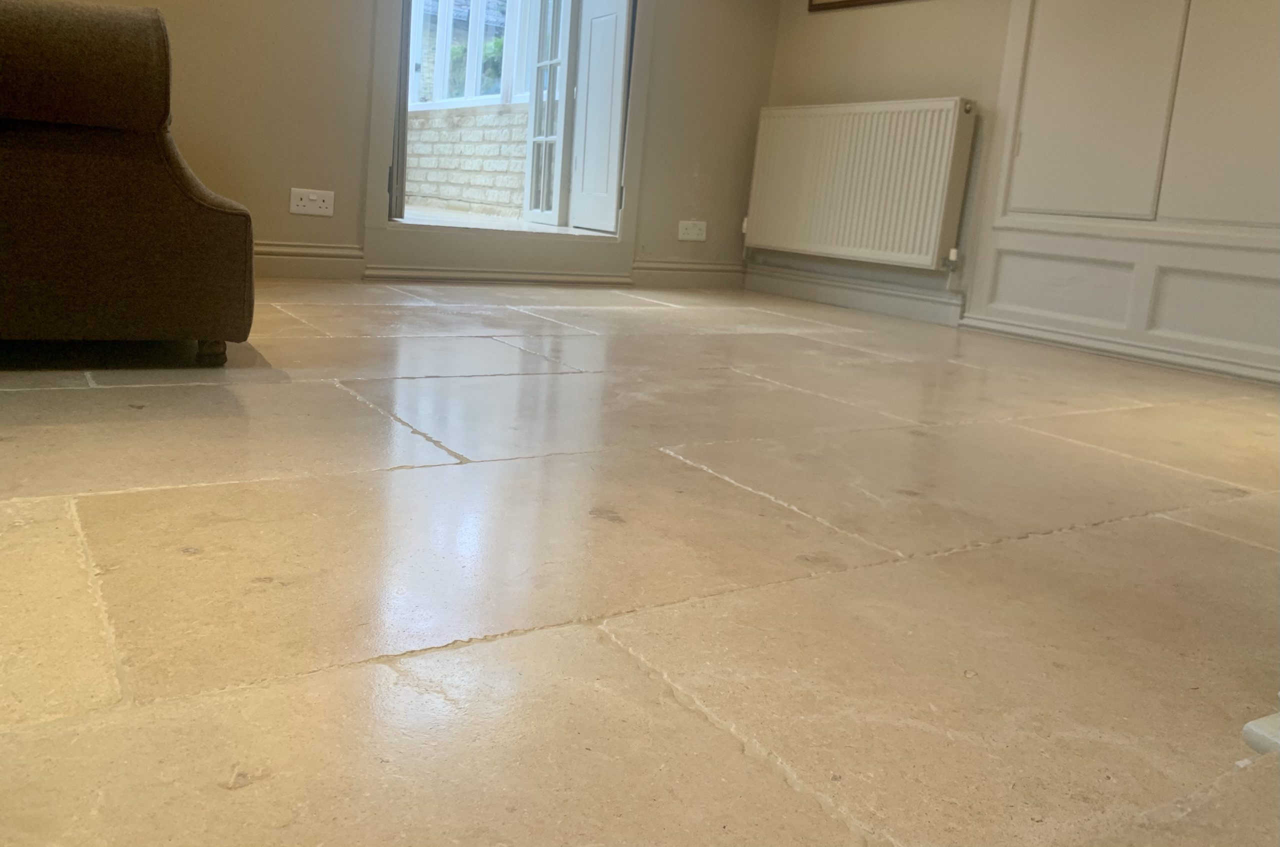 Limestone floor refurbishment